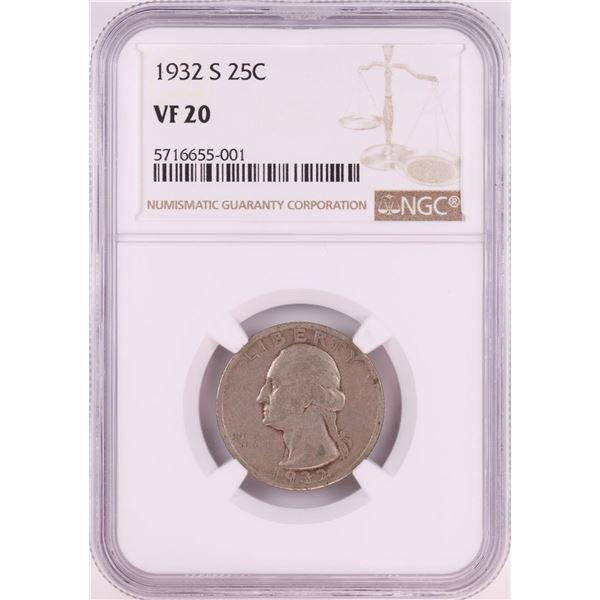1932-S Washington Quarter Coin NGC VF20