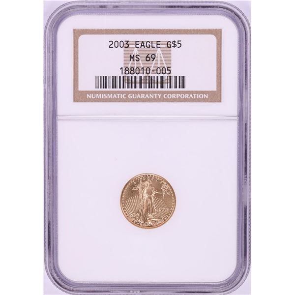 2003 $5 American Gold Eagle Coin NGC MS69