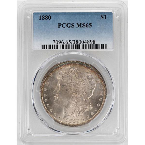 1880 $1 Morgan Silver Dollar Coin PCGS MS65