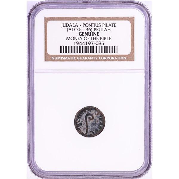 26-36 AD Judaea Pontius Pilate Prutah Ancient Coin NGC Genuine