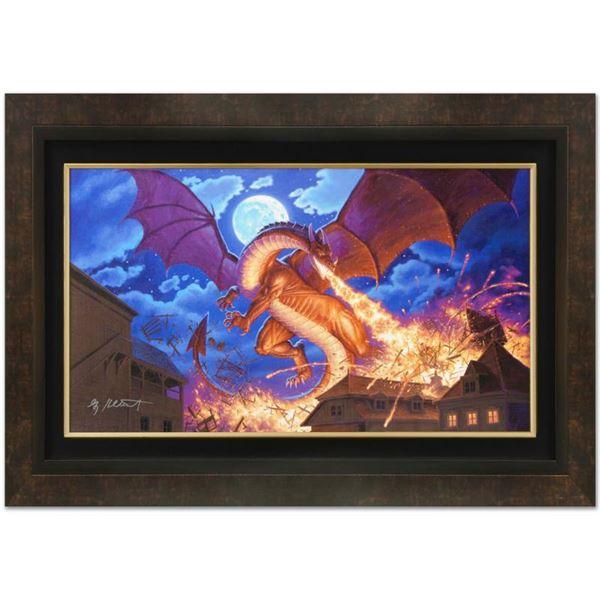 "Greg Hildebrandt ""Smaug Destroys Laketown"" Print Giclee on Canvas"