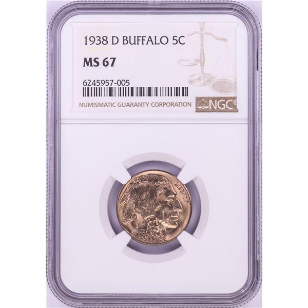 1938-D Buffalo Nickel Coin NGC MS67
