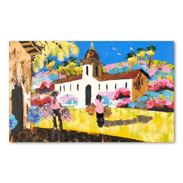 "Henrie (1932-1999) ""Memories of Mexico"" Original Oil on Canvas"