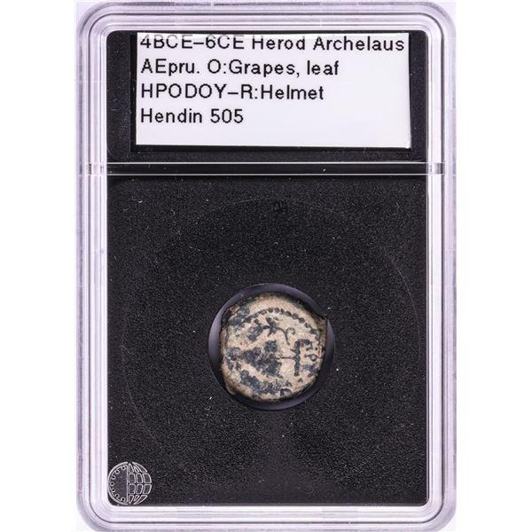 4BCE-6CE Herod Archelaus Ancient Coin