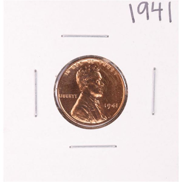 1941 Proof Lincoln Wheat Cent Coin