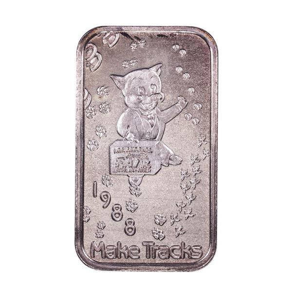 1988 L.A. County Fair Montclair, CA Limited Edition 1oz .999 Fine Silver Art Bar