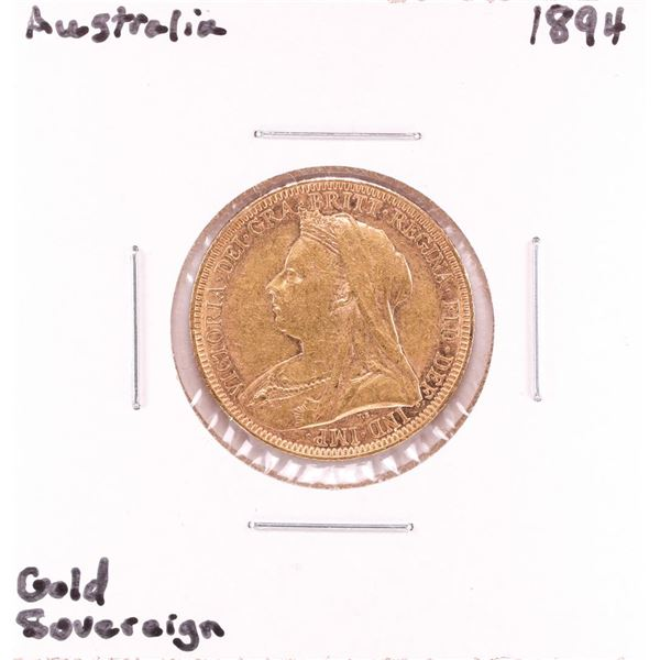 1894 Australia Sovereign Gold Coin