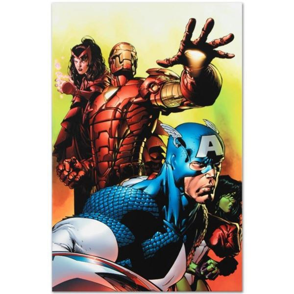 """Marvel Comics """"Avengers #501"""" Numbered Limited Edition Giclee on Canvas by David"""
