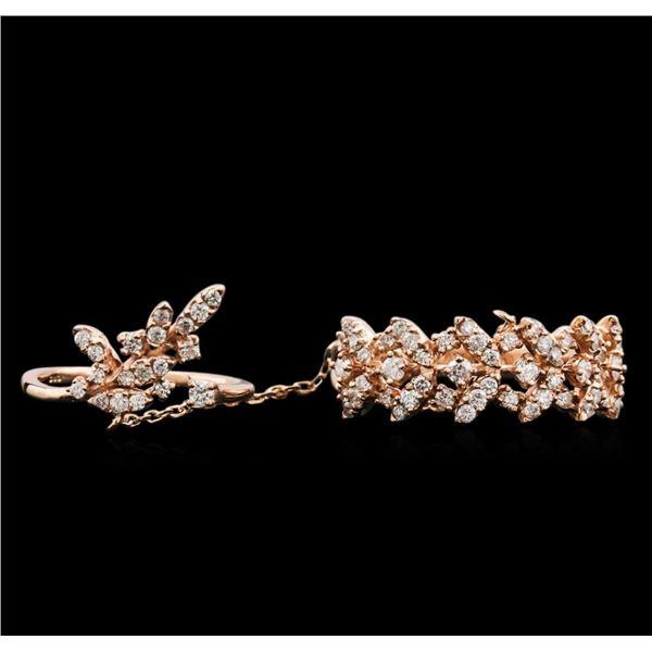 0.68 ctw Diamond Ring - 14KT Rose Gold
