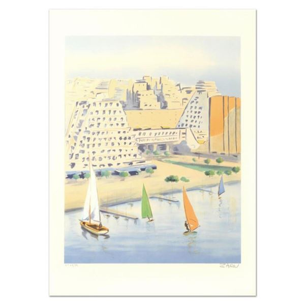 """Victor Zarou, """"Grand Motte"""" Limited Edition Lithograph, Numbered and Hand Signed"""