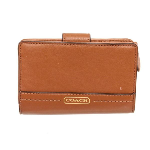 Coach Tan Crossgrain Leather Tab Wallet