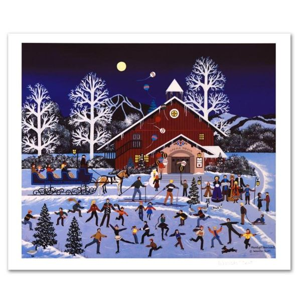 "Jane Wooster Scott, ""Moonlight Merriment"" Hand Signed Limited Edition Lithograph"
