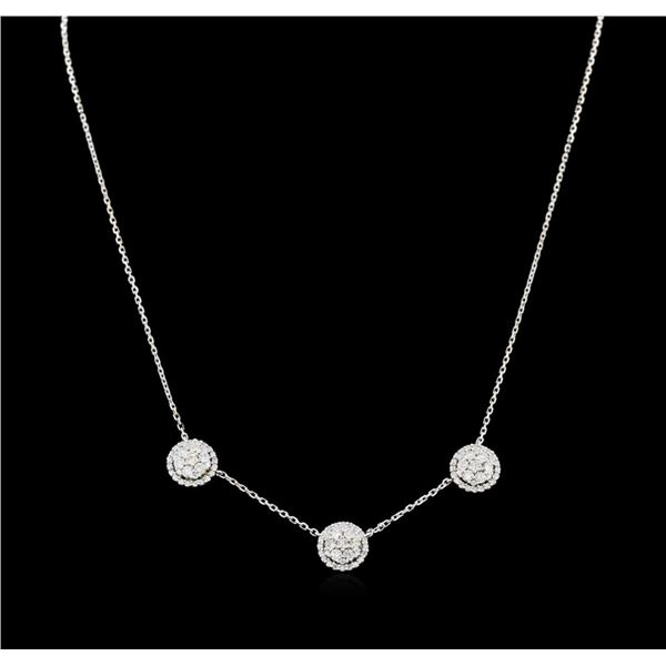 1.57 ctw Diamond Necklace - 14KT White Gold
