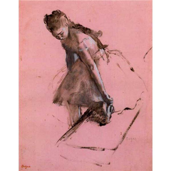 Edgar Degas - Dancer Slipping On Her Shoe