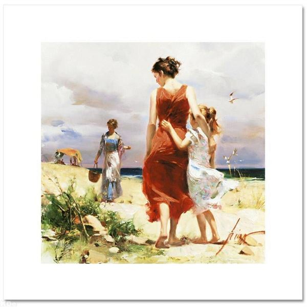 "Pino (1931-2010), ""Breezy Days"" Limited Edition on Canvas, Numbered and Hand Sig"