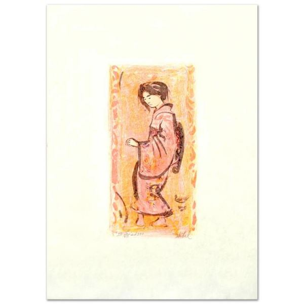 """""""Ume"""" Limited Edition Lithograph by Edna Hibel (1917-2014), Numbered and Hand Si"""