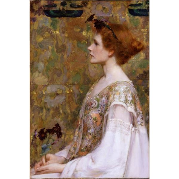 Albert Herter - Woman with Red Hair