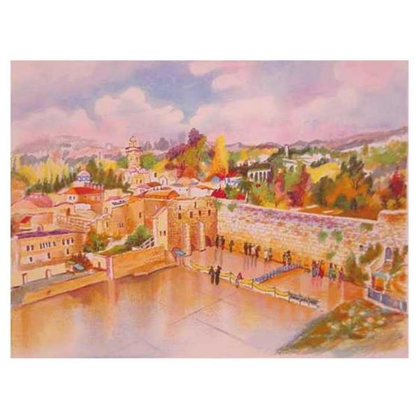 "Zina Roitman, ""Jerusalem"" Hand Signed Limited Edition Serigraph with Letter of A"