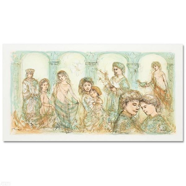 """""""Solomon's Court"""" Limited Edition Lithograph by Edna Hibel (1917-2014), Numbered"""