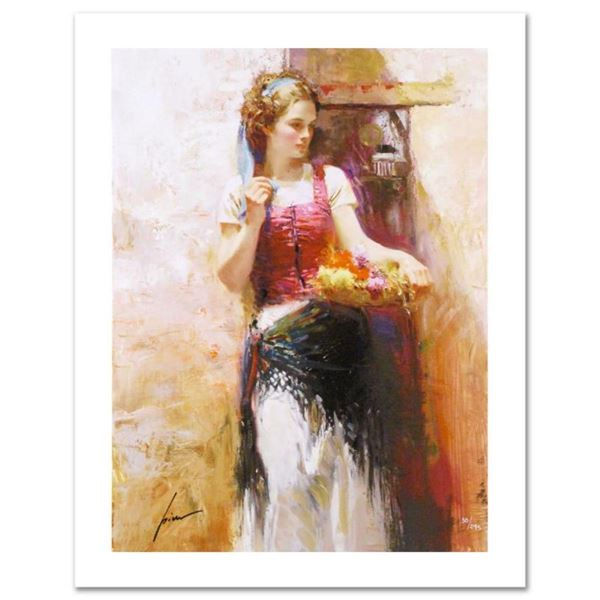 """Pino (1939-2010) """"The Flower Basket"""" Limited Edition Giclee. Numbered and Hand S"""