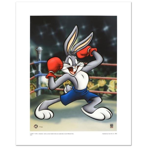 """""""Boxer Bugs"""" Limited Edition Giclee from Warner Bros., Numbered with Hologram Se"""