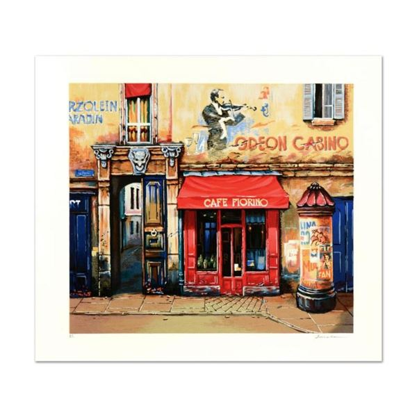 """Alexander Borewko, """"Cafe Furino"""" Limited Edition Giclee, Numbered and Hand Signe"""