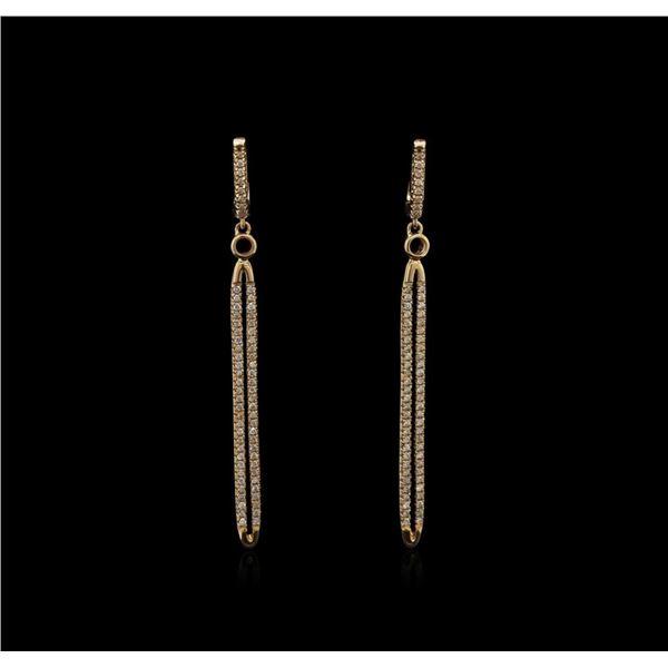 0.55 ctw Diamond Earrings - 14KT Rose Gold