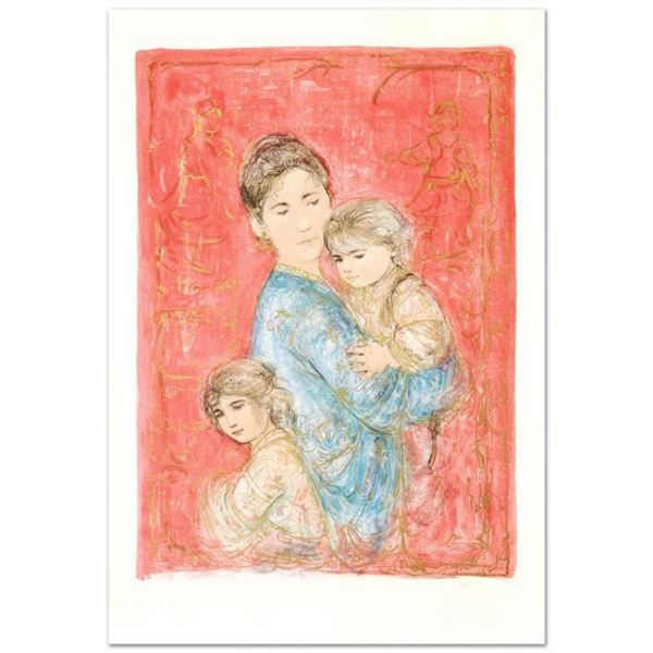 """""""Sonya and Family"""" Limited Edition Lithograph by Edna Hibel (1917-2014), Numbere"""