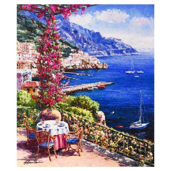 "Sam Park, ""Amalfi Vista"" Hand Embellished Limited Edition Serigraph on Canvas, N"
