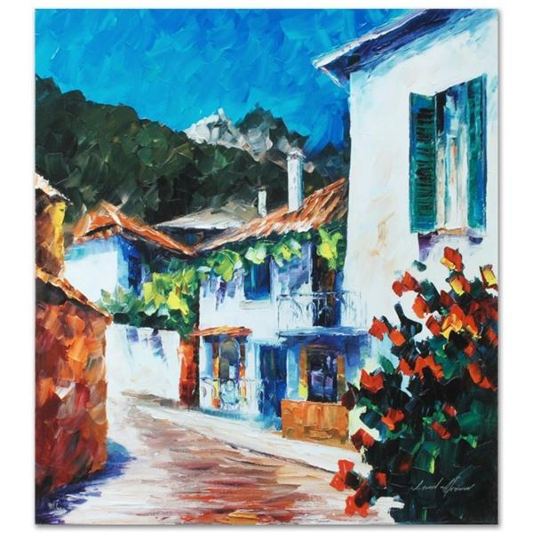 """Leonid Afremov (1955-2019) """"The Villa"""" Limited Edition Giclee on Canvas, Numbere"""