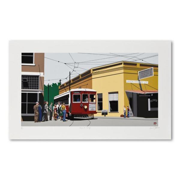 "Armond Fields (1930-2008), ""Fieldsville Trolley"" Limited Edition Hand Pulled Ori"