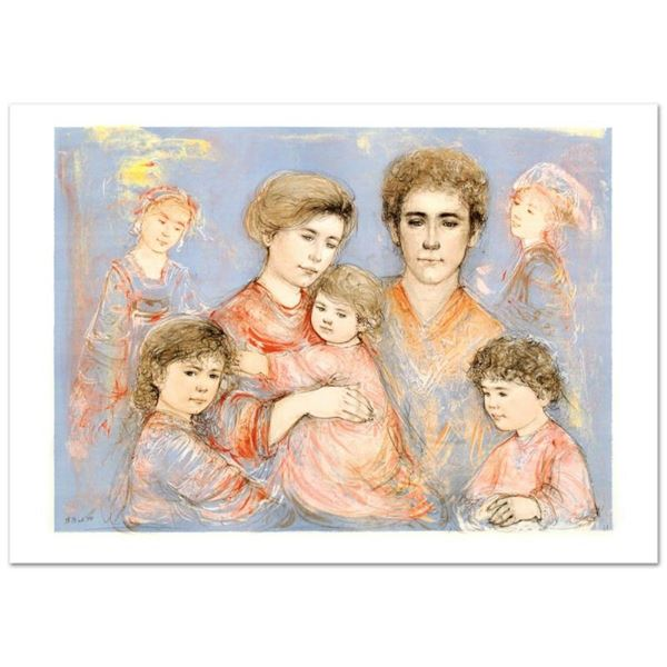"""Michael's Family"" Limited Edition Lithograph (36"" x 26"") by Edna Hibel (1917-20"
