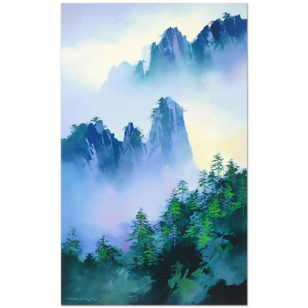 "Thomas Leung, ""Misty Mountain Passage"" Hand Embellished Limited Edition, Numbere"