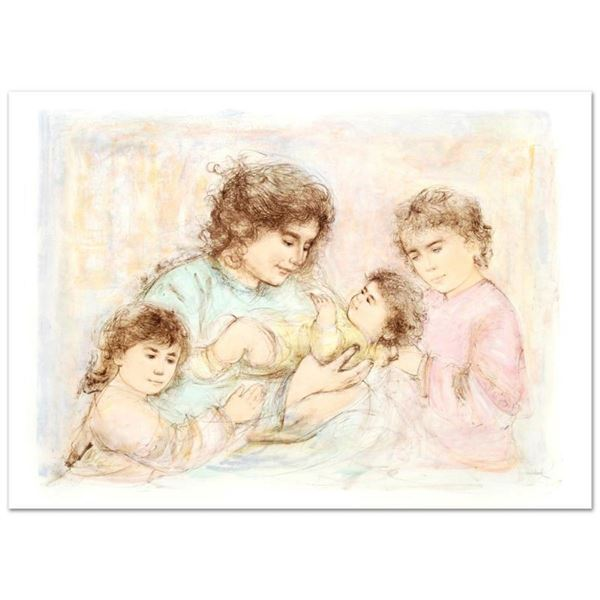 """Marilyn and Children"" Limited Edition Lithograph (37"" x 27"") by Edna Hibel (191"