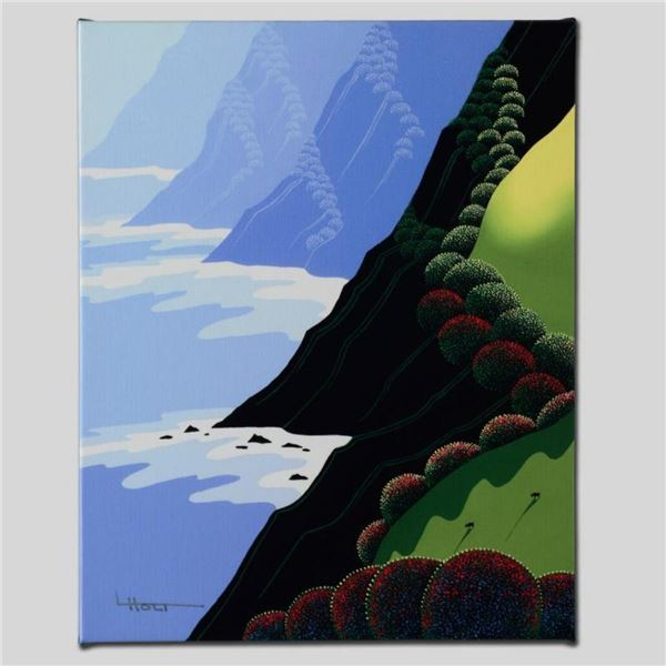 """Emerald Cliffs"" Limited Edition Giclee on Canvas by Larissa Holt, Numbered and"