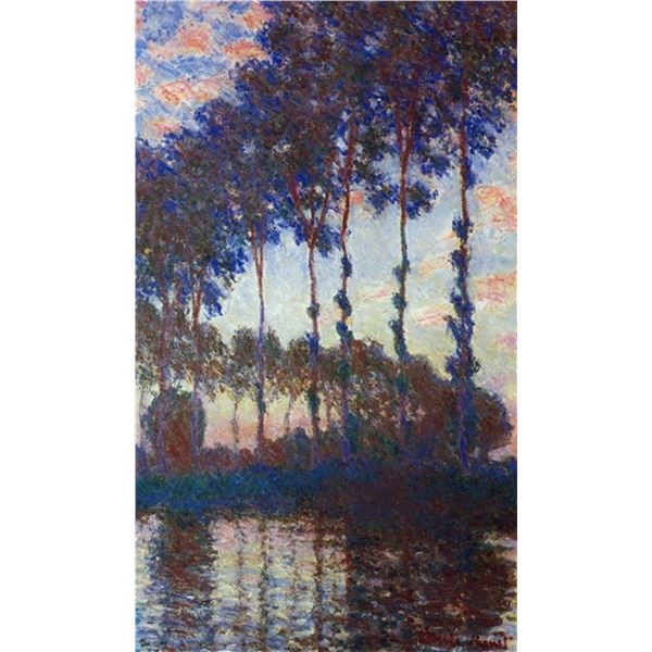 Claude Monet - Poplars, Sunset