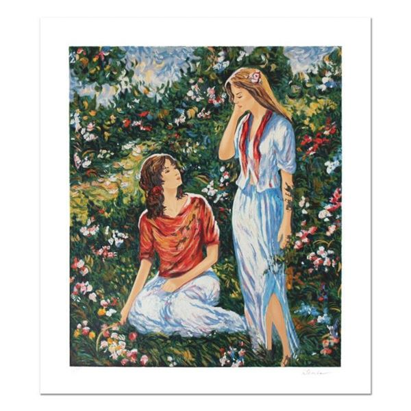 "Igor Semeko, ""Sisters"" Hand Signed Limited Edition Serigraph with Letter of Auth"