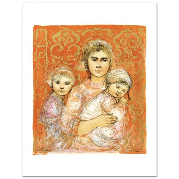 """""""Jenet, Mary and Wee Jenet"""" Limited Edition Lithograph by Edna Hibel (1917-2014)"""