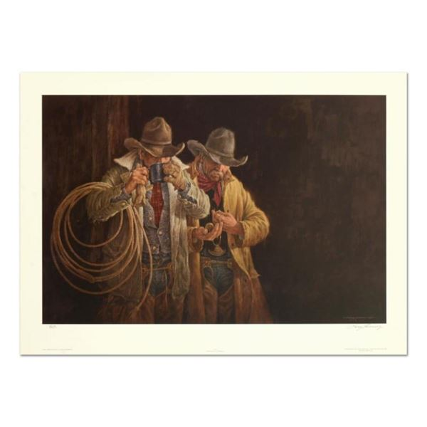 """Larry Fanning (1938-2014), """"5:00 A.M."""" Limited Edition Lithograph, Numbered and"""