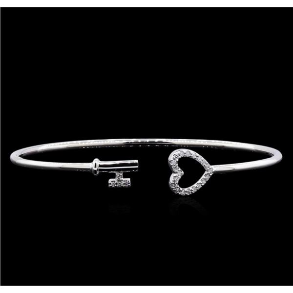 0.15 ctw Diamond Bracelet - 14KT White Gold