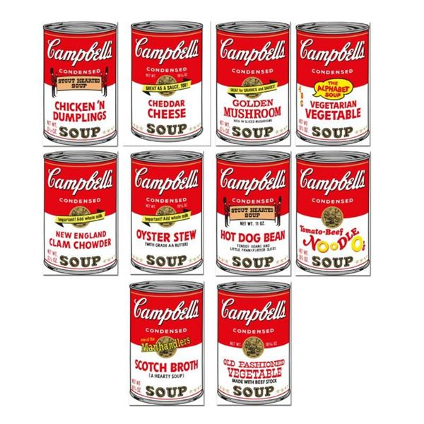 "Andy Warhol ""Soup Can Series 2"" Limited Edition Suite of 10 Silk Screen Prints f"