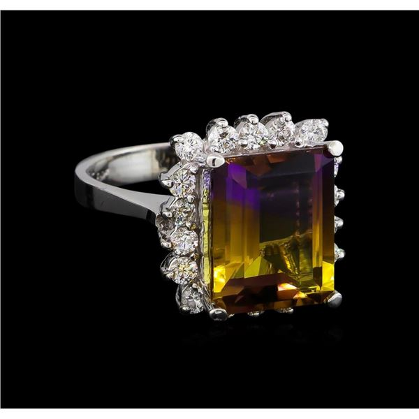 6.00 ctw Ametrine and Diamond Ring - 14KT White Gold
