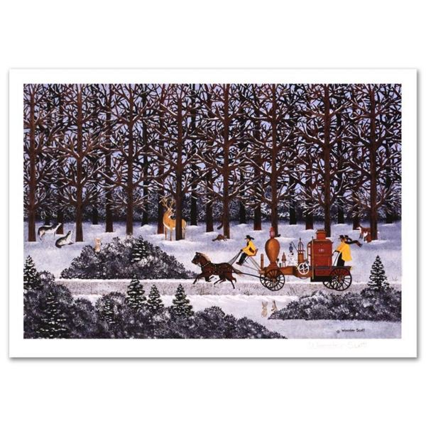 "Jane Wooster Scott, ""Dashing Through the Snow"" Hand Signed Limited Edition Litho"