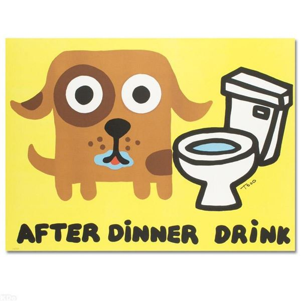 """After Dinner Drink"" Limited Edition Lithograph by Todd Goldman, Numbered and Ha"