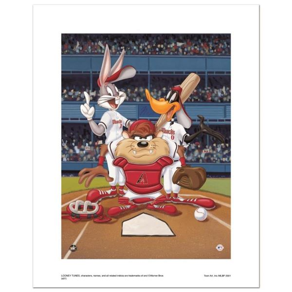 """""""At the Plate (Diamondbacks)"""" Numbered Limited Edition Giclee from Warner Bros."""
