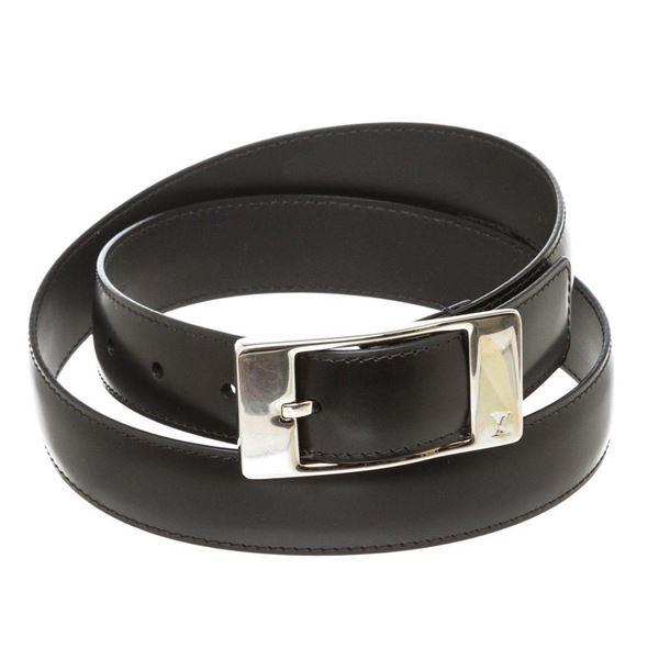 Louis Vuitton Black Leather Ceinture Mirage Belt 90