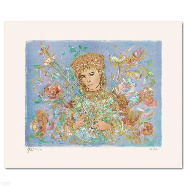 """""""Cheryl"""" Limited Edition Lithograph by Edna Hibel (1917-2014), Numbered and Hand"""