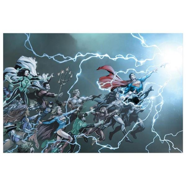 """DC Comics, """"DC Universe: Rebirth #1"""" Numbered Limited Edition Giclee on Canvas b"""
