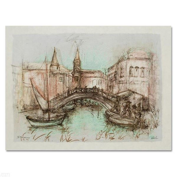 """""""Chioggia"""" Limited Edition Lithograph by Edna Hibel (1917-2014), Numbered and Ha"""