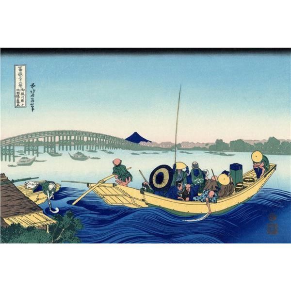 Hokusai - Sunset Across the Ryogoku Bridge